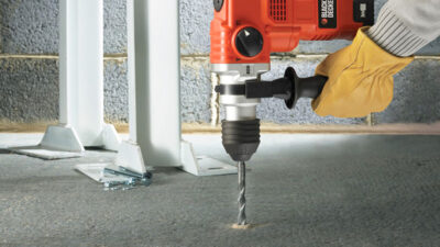 How to use hammer drill on concrete